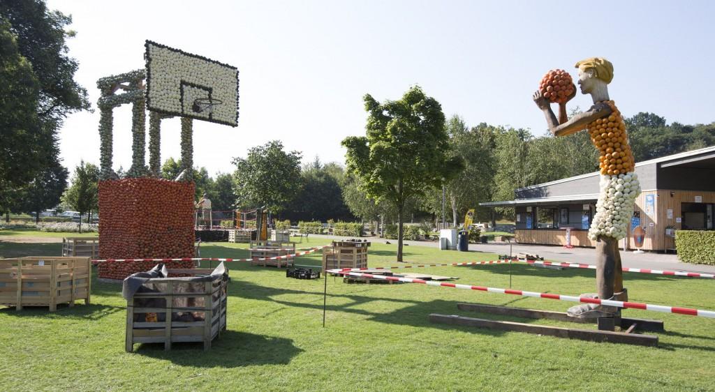 Basketballspieler aus Kürbissen